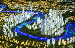 Model of a modern city Stock Photography