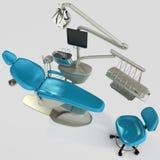 Model of modern dental chair. 3D illustration. Model of modern dental chair. Image on white background. 3D illustration vector illustration