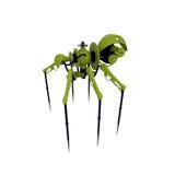 Model of modern spy - spider. Steampunk spider - cyborg. Isolated on white work Stock Photos