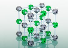 Model of NaCl molecular structure Stock Photography
