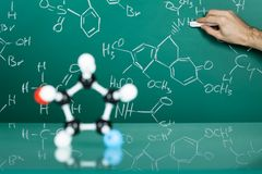 Model of molecular structure Stock Image