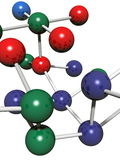 Model of molecule. Background possible to use for printing and project Royalty Free Stock Images