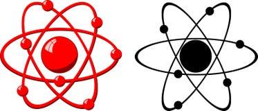 Model of a molecule atom Stock Photos
