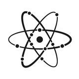 The model of a molecule atom symbol Stock Photography