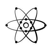 The model of a molecule atom symbol Royalty Free Stock Image