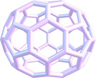 Model of molecule fullerene C70 Royalty Free Stock Photo