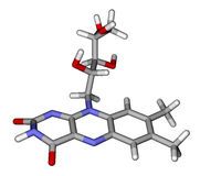 model molekylära riboflavinsticks Royaltyfri Fotografi