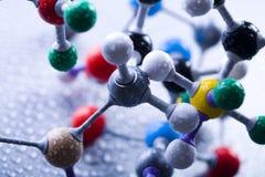 model molekylärt för atom Arkivbild