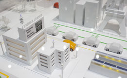 Model or morden and green city Stock Image