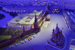 Model Moscow is capital of USSR Royalty Free Stock Image
