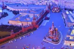 Model Moskou is hoofd van de USSR - Rood Vierkant Royalty-vrije Stock Foto's
