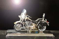 Model of a motorcycle Harley-Davidson royalty free stock images