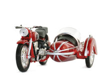 Model of motorcycle with a sidecar. Isolated Royalty Free Stock Photography
