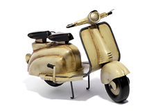 Model of Motorized Scooter on White Background Royalty Free Stock Photography