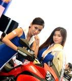 model motormotorshow för ducati Royaltyfria Bilder