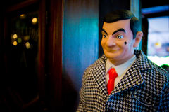 A model of Mr.Bean. BANGKOK, THAILAND - December 21, 2008: A model of Mr.Bean, one of a collection toys royalty free stock photo