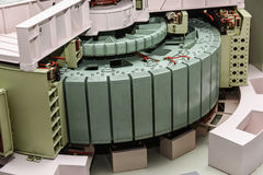 Model of a 1000 MW steam turbine stock image