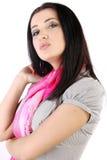 model nätt för brunett Fotografering för Bildbyråer