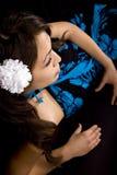 model nätt reclining Royaltyfria Foton