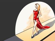 Model na pasie startowym - horyzontalny tło Zdjęcie Royalty Free