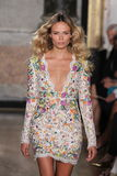 Model Natasha Poly walks the runway at the Emilio Pucci show as a part of Milan Fashion Week Stock Image