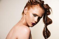 Model with natural makeup Royalty Free Stock Photos