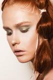 model naturligt för makeup Arkivfoton
