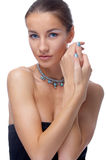 Model in necklace Stock Photo