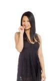 Model nervous biting nails Stock Image
