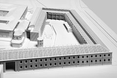 Model of a new building project in white color Stock Photography