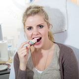 Model with nice teeth Royalty Free Stock Photography