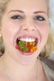 Model with nice teeth Stock Photo
