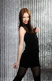 model nätt förförisk kvinna för dans Arkivbilder
