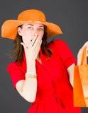 Model odizolowywający na prostym tle męczącym zanudzającym Zdjęcie Royalty Free