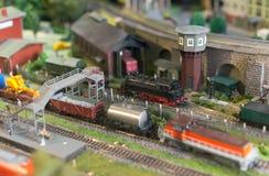 Free Model Of Train On Rail Station. Stock Photos - 74866273