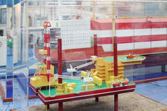 Model of offshore oil base at Russia Marine Industry Conference 2012 Stock Images