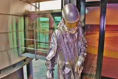 Model of an oil worker in working clothes, Stavanger, Norway. Royalty Free Stock Image