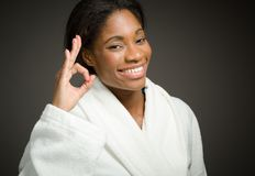 Model  ok sign Royalty Free Stock Photos