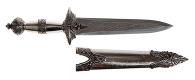 Model of the old dagger with a white background Royalty Free Stock Photos