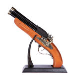 Model of the old gun on the white background Royalty Free Stock Photography