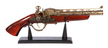 Model of the old gun on the white background, Stock Images