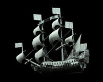 Model of old military ship Royalty Free Stock Image