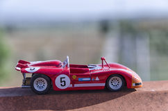 Model of a old racing car in the sun Royalty Free Stock Images