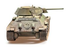 Model of old soviet T-34 tank Stock Images