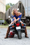 Model On Motorcycle Stock Images