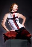Model op de Kruk van het Glas Royalty-vrije Stock Afbeelding