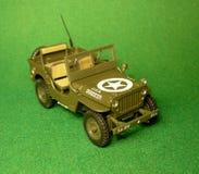 Model op grote schaal van de militaire Willys-auto Stock Afbeelding