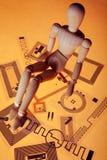 Model op RFID-markeringen stock afbeelding