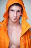 Model in orange Stock Images