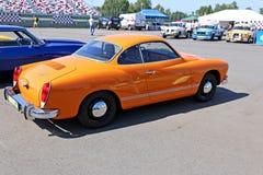 Model orange retro car Stock Photos